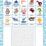 Wordsearch   Sea Animals   English Esl Worksheets For