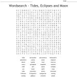 Wordsearch   Tides, Eclipses And Moon   Wordmint