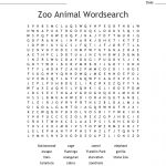 Zoo Animal Wordsearch   Wordmint