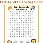 Zoo Animals Word Search | Zoo Animals, Zoo, Kids Word Search